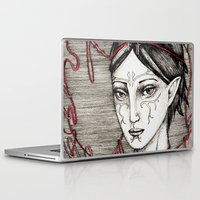 dragon ball Laptop & iPad Skins featuring Merrill: ball of twine  by Anca Chelaru