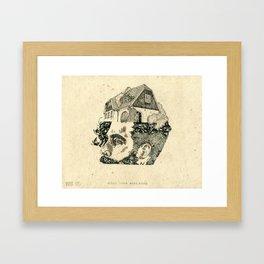 Make your head home. Framed Art Print