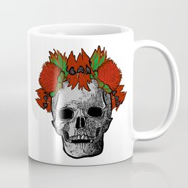 Gorgeous Australian Native Flower Crown on Skull Coffee Mug