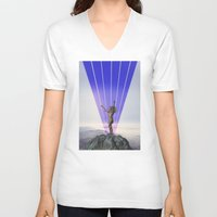 indian V-neck T-shirts featuring indian by •ntpl•