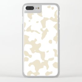 Large Spots - White and Pearl Brown Clear iPhone Case