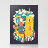 unicorn Stationery Cards featuring Unicorn by Seaside Spirit