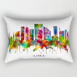 Lima Peru Skyline Rectangular Pillow