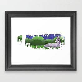 Forest Bunny Framed Art Print