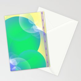 Transparency of Bubbles Stationery Cards