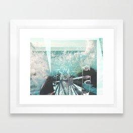 wave wheel Framed Art Print