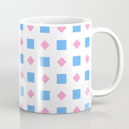 Symmetric patterns 164 blue square and pink rhombus Coffee Mug