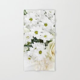 White Flowers Hand & Bath Towel