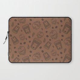 Doodle coffee cat Laptop Sleeve