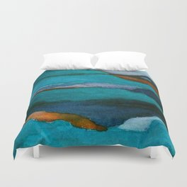 """""""a dark february redux1"""" abstract watercolor painting Duvet Cover"""
