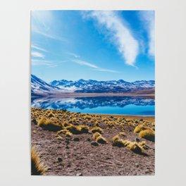 Laguna Miñiques, San Pedro de Atacama Desert, Chile Poster