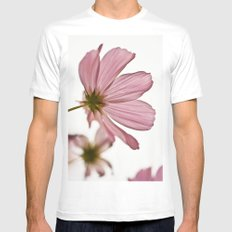 Pink Cosmos Mens Fitted Tee White MEDIUM