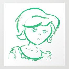 Downcast In Green Art Print