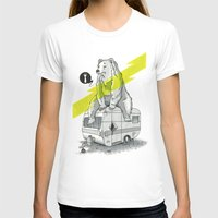 camping T-shirts featuring Camping Bear by Duke.Doks
