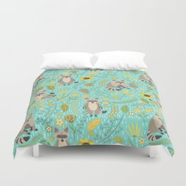 Cute raccoons Duvet Cover