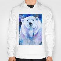 polar bear Hoodies featuring Polar bear  by Slaveika Aladjova