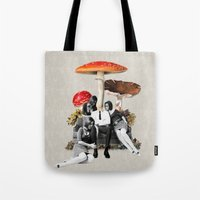 eugenia loli Tote Bags featuring Upper Class Dealer by Eugenia Loli