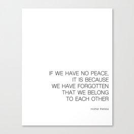 We Belong Canvas Print