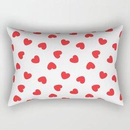 Playing cards hearts suit Rectangular Pillow