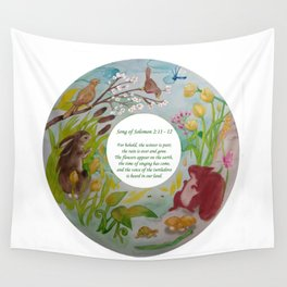 Spring:  Song of Solomon 2:11-12 Wall Tapestry