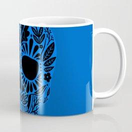 Sugar Skull Blue Coffee Mug