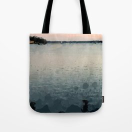 Sunrise Over the Sea Abstract Tote Bag