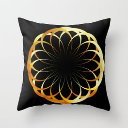 A decorative Celtic fractal flower like a mandala Throw Pillow
