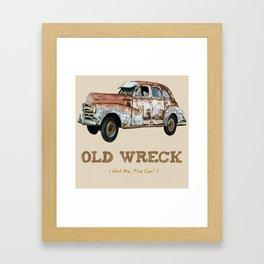 Old Wreck 2 Framed Art Print