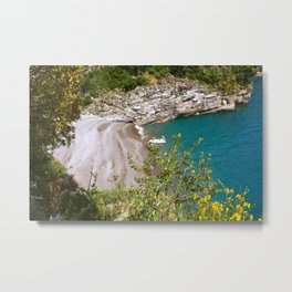 Positano Cove Metal Print