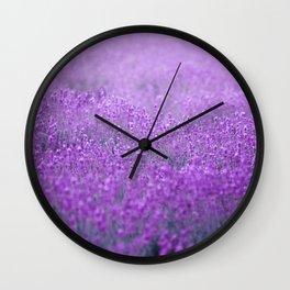 Rain on Lavender Wall Clock