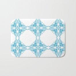 Blue Birds Pattern Bath Mat