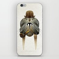 walrus iPhone & iPod Skins featuring walrus by Manoou