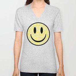 Splattered Smiley Face Unisex V-Neck