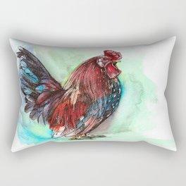 Rooster / watercolor / fineliner Rectangular Pillow
