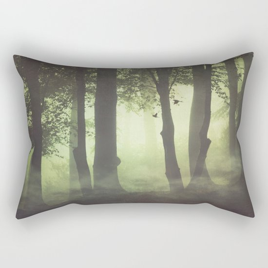 Wispy Forest Mists Rectangular Pillow