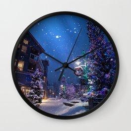 Christmas Town (Color) Wall Clock