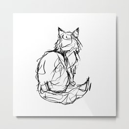 Kitty Gesture Metal Print