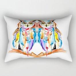 watercolor owl Rectangular Pillow