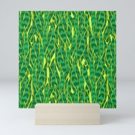 Snake Plant Jungle Pattern Mini Art Print