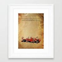 ferrari Framed Art Prints featuring ferrari by Larsson Stevensem