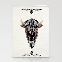 bison Stationery Cards featuring bison by Manoou