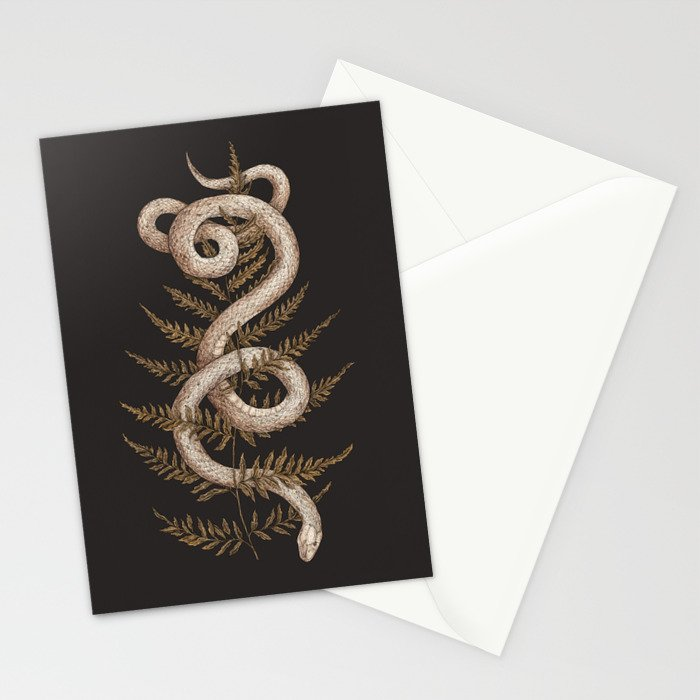 The Snake and Fern Stationery Cards