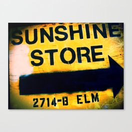 Sunshine Store Canvas Print