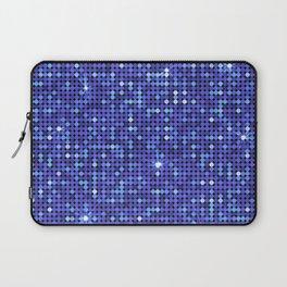 Shiny Disco Ball Blue Laptop Sleeve