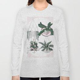 Plant Family Portrait for Plant Moms, Plant Ladies, and Plant Parenthood Long Sleeve T-shirt