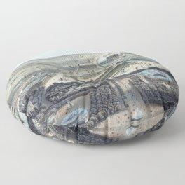 Vue générale de Paris avant 1870 Floor Pillow