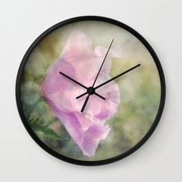 Rose of Sharon Morning Dew Wall Clock