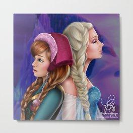Frozen Sisters Metal Print