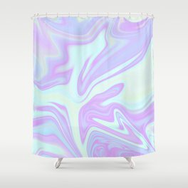 Unicorn Goo Liquid Holographic Texture Shower Curtain