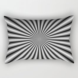32 Rays in Black and White Rectangular Pillow